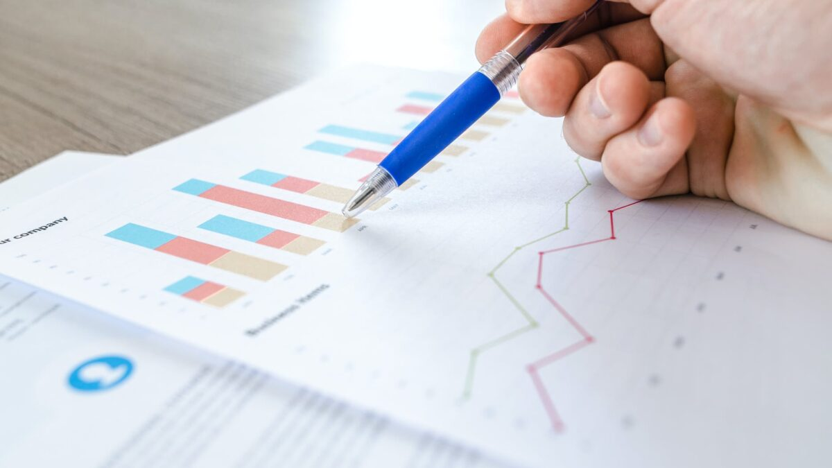 close up photo of survey spreadsheet